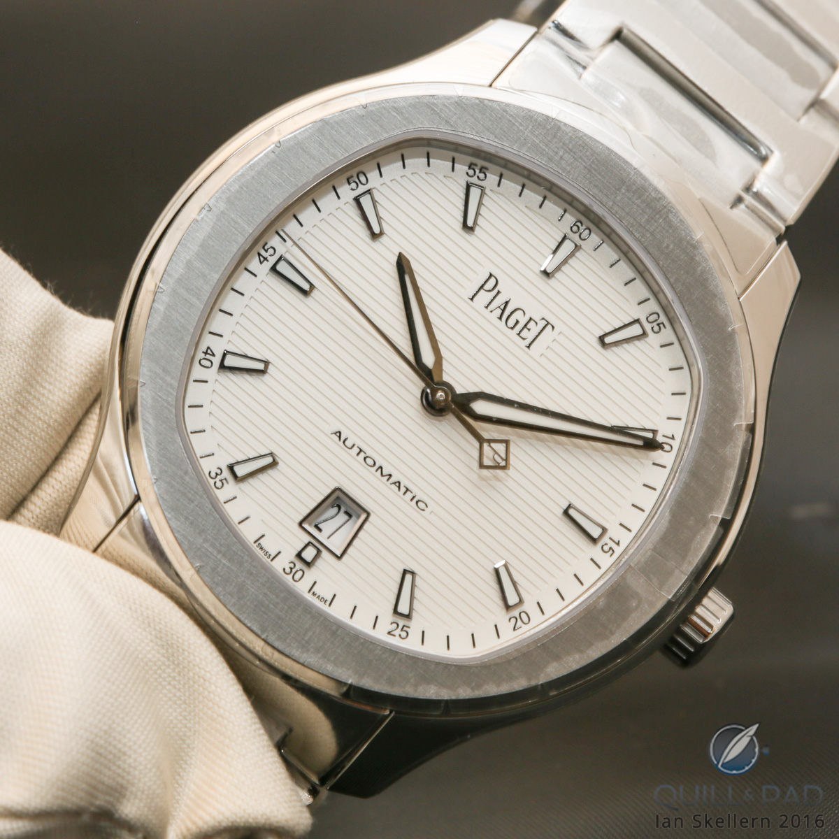 Piaget Polo S chronograph with white dial